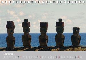 MOAI - steinerne Wächter der Osterinsel (Tischkalender 2016 DIN