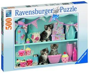 Katzen im Cupcakeregal 500 Teile