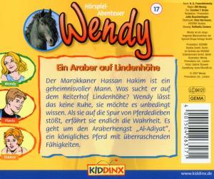Wendy 17. Ein Araber auf Lindenhöhe - zum Schließen ins Bild klicken