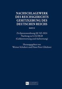 Nachschlagewerk des Reichsgerichts Gesetzgebung des Deutschen Re