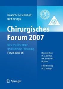 Chirurgisches Forum 2007 für experimentelle und klinische Forsch