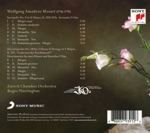 Mozart: Serenade K. 204 & Divertimento K. 247 - zum Schließen ins Bild klicken