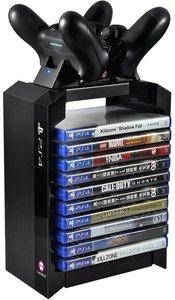 Games Tower für 10 Spiele + DualShock 4 Ladegerät (3-Pin UK-Stec