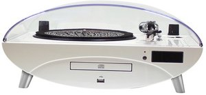 Plattenspieler Ellipse TD97 mit Radio, CD-/MP3-Player, weiss-glo