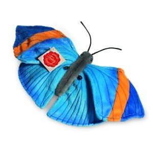Teddy Hermann 93531 - Schmetterling blau, 30 cm