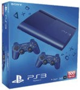 Sony PS3 Konsole 500GB blau + 2 Dual Shock blau