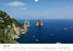 Beautiful coasts in Italy - UK Version (Wall Calendar 2016 DIN A