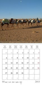 Deserts of Arabia (Wall Calendar 2015 300 × 300 mm Square)