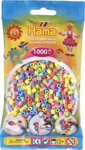 Hama 207-50 - Perlen, pastell gemischt, 1000 Stück