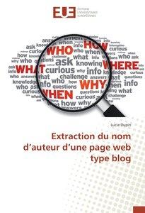 Extraction du nom d'auteur d'une page web type blog