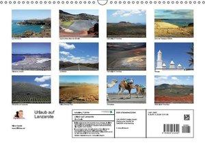 Urlaub auf Lanzarote (Wandkalender 2016 DIN A3 quer)