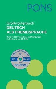 PONS Großwörterbuch Deutsch als Fremdsprache mit CD-ROM