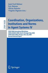 Coordination, Organizations, Institutions and Norms in Agent Sys