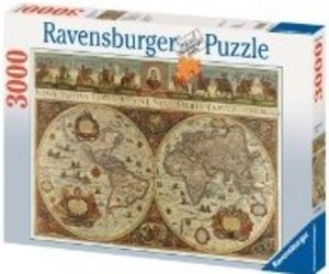 Ravensburger 17054 - Blaeuw: Weltkarte 1665, 3000 Teile Puzzle