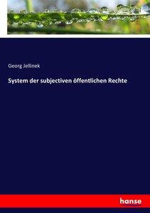 System der subjectiven öffentlichen Rechte