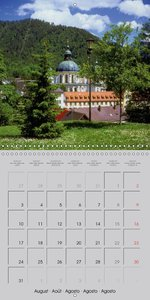 Lovely Bavaria (Wall Calendar 2015 300 × 300 mm Square)
