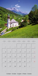 Lovely Bavaria (Wall Calendar 2015 300 × 300 mm Square)