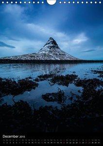 Iceland 63° 66° N (Wall Calendar 2015 DIN A4 Portrait)