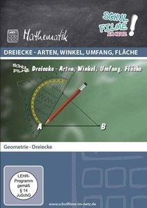 Dreiecke - Arten, Winkel, Umfang, Fläche, 1 DVD