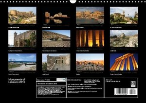 Monuments of Lebanon 2015 (Wall Calendar 2015 DIN A3 Landscape)