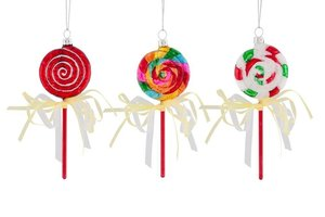 Christbaumkugel Set Lollipops, bunt