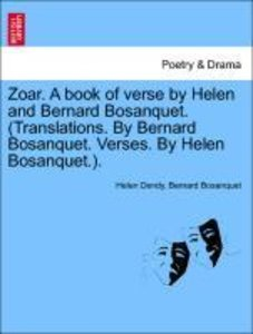 Zoar. A book of verse by Helen and Bernard Bosanquet. (Translati