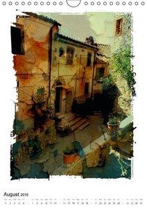 Italian alleys / UK-Version (Wall Calendar 2016 DIN A4 Portrait)