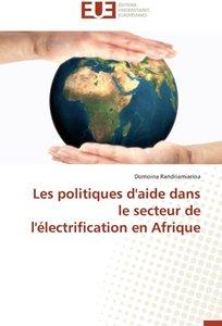 Les politiques d'aide dans le secteur de l'électrification en Af