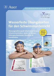 Wasserfeste Übungskarten für den Schwimmunterricht