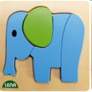 Lena 32061 - Holzpuzzle Elefant