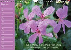 Pastel Flower Quotes (Wall Calendar 2015 DIN A4 Landscape)