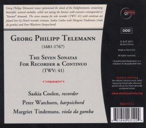 Die Sieben Sonaten Für Blockflöte Und Continuo