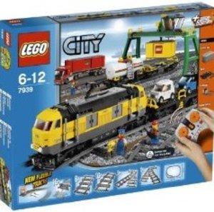 LEGO® City 7939 - Güterzug, Eisenbahn mit Schienen und I