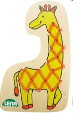 Lena 32072 - Fädeltier Giraffe - zum Schließen ins Bild klicken