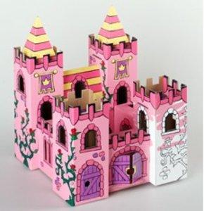 Calafant B2602X - Schloss Rosengarten mit 12 Filzstiften, LEVEL