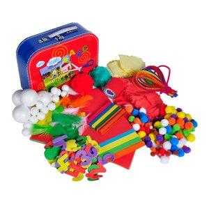Knorrtoys F15411 - Bastelkoffer für Kinder, Arts und Crafts Set,
