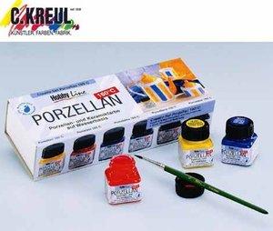 Corvus A600542 - Kreul: Porzellan/Keramikfarben, 6 Stück, glänze