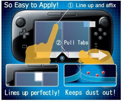 Wii U - Gamepad Bildschirm Schutzfolie - Precision Screen Filter - zum Schließen ins Bild klicken