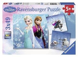 Abenteuer im Winterland. Puzzle 3 X 49 Teile