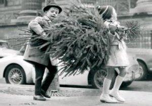 Children Xmas Tree Holiday Half Notecards