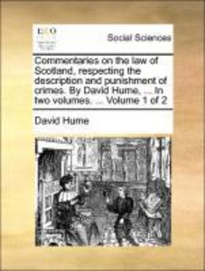 Commentaries on the law of Scotland, respecting the description