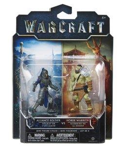 Warcraft - 2er Figuren-Set 4 Alliance Solider & Horde Warrior 2,