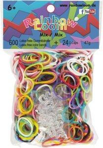 Rainbow Loom 22017 - Original Gummibänder Mix, 600 Stück inkl. 2
