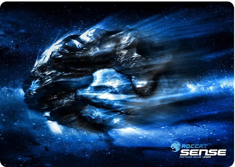 ROCCAT Sense Meteor Blue 2mm - High Precision Gaming Mousepad - zum Schließen ins Bild klicken