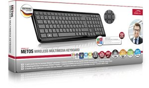 Speedlink SL-6418-BK METOS Wireless Multimedia Keyboard, Tastatu
