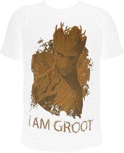 Guardians of the Galaxy - I am Groot - T-Shirt - Weiß - Größe L