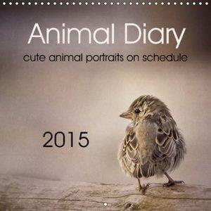 Animal Diary (Wall Calendar 2015 300 × 300 mm Square)