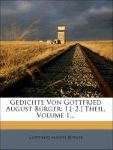 Gedichte von Gottfried August Bürger.