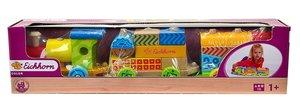 Eichhorn 100002223 - Color Holzzug, 20-tlg., inkl. 17 Bausteinen