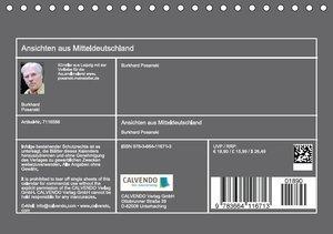 Ansichten aus Mitteldeutschland - Aquarellzeichnungen (Tischkale